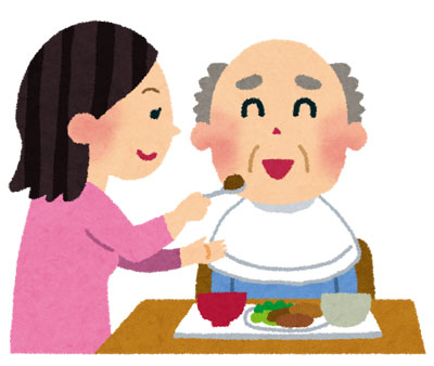 介護士の食事介助
